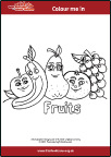 Food Crew-colour-in-fruits